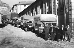 The widow of Juan Tadeo agency truck fleet. Municipal Archives of Alcoy