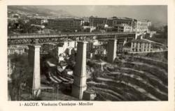 View viaduct of Canalejas, Industrial School in the background. Municipal Archives of Alcoy