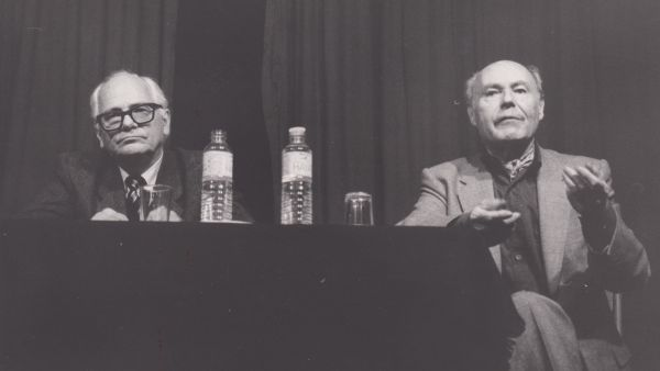 André Camp and René de obaldia, poet, novelist and playwright