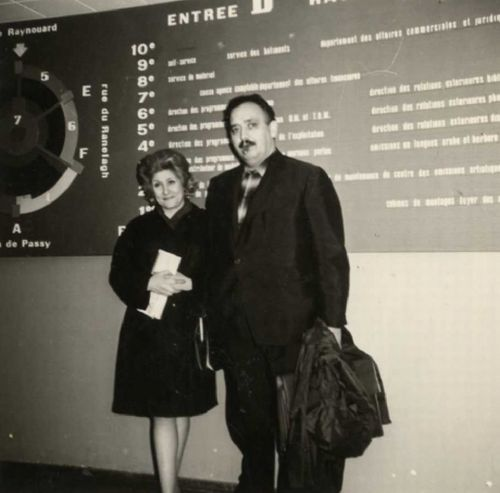 Julián Antonio Ramírez and Adelita of the Field in the House of the Radio of Paris