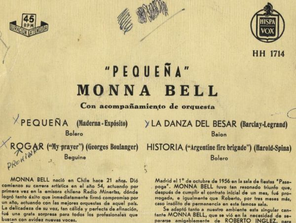Cover disk of Monna Bell, pray, with indication of prohibited